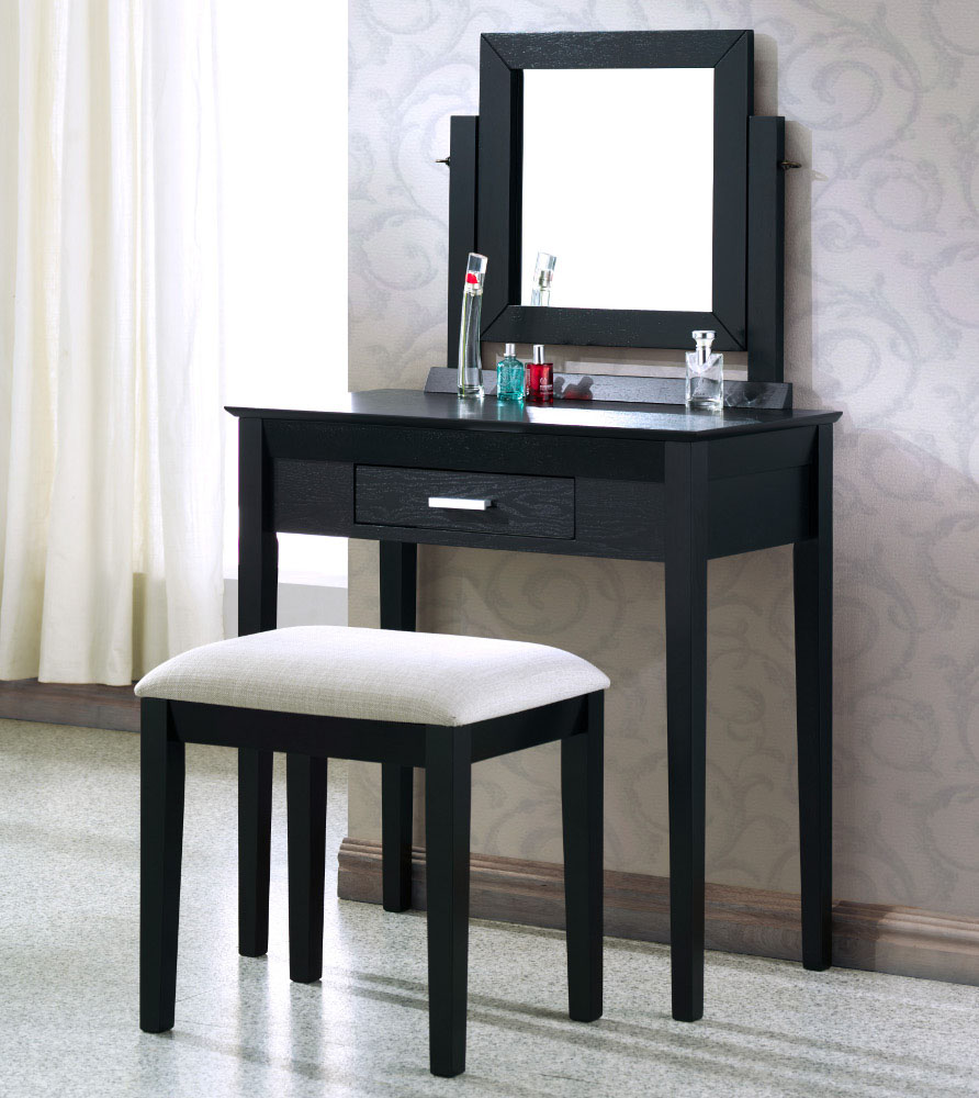Image of: Makeup vanity table and chair