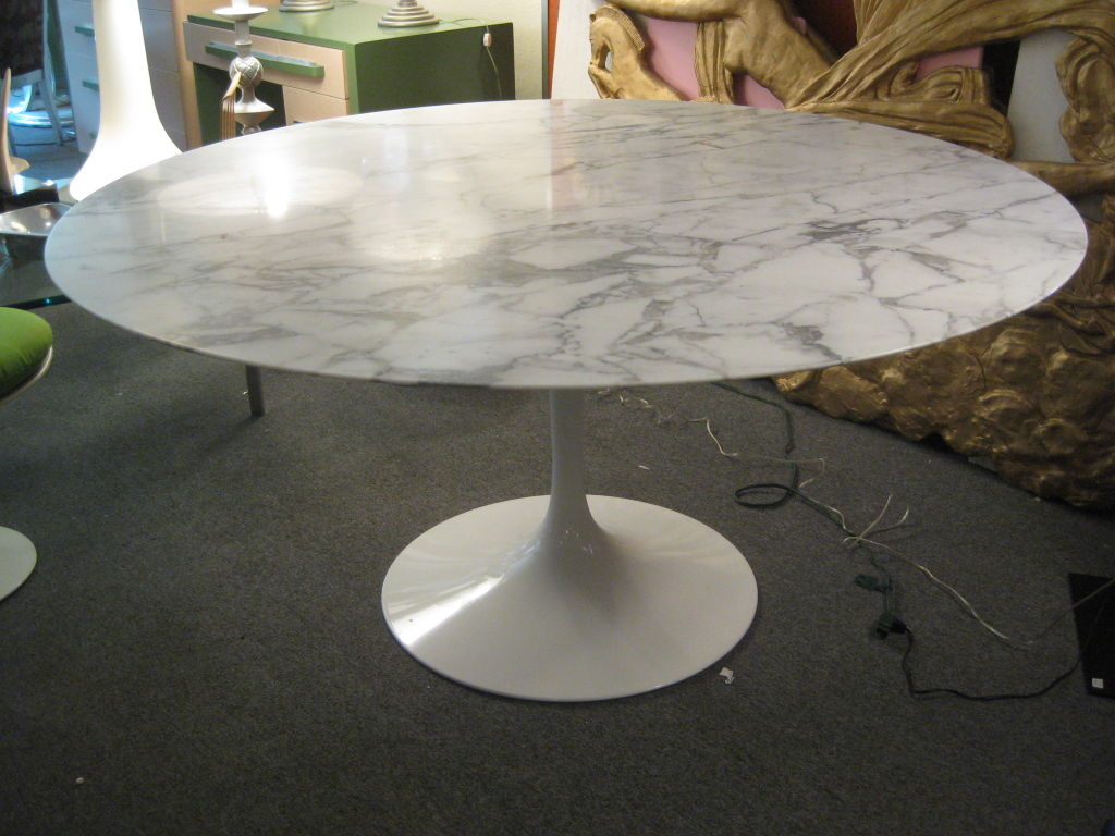 Picture of: Marble White Tulip Table
