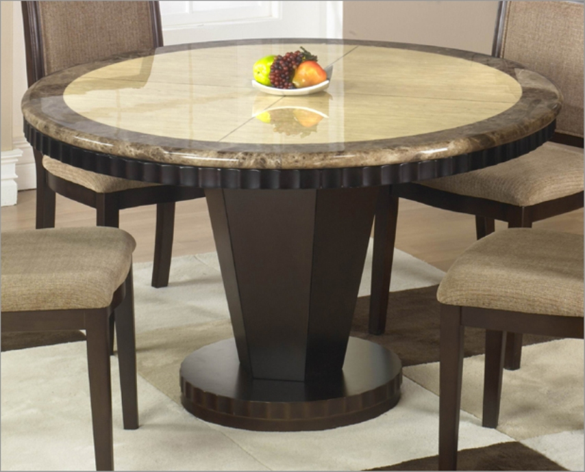 Image of: Marble top circle dining table
