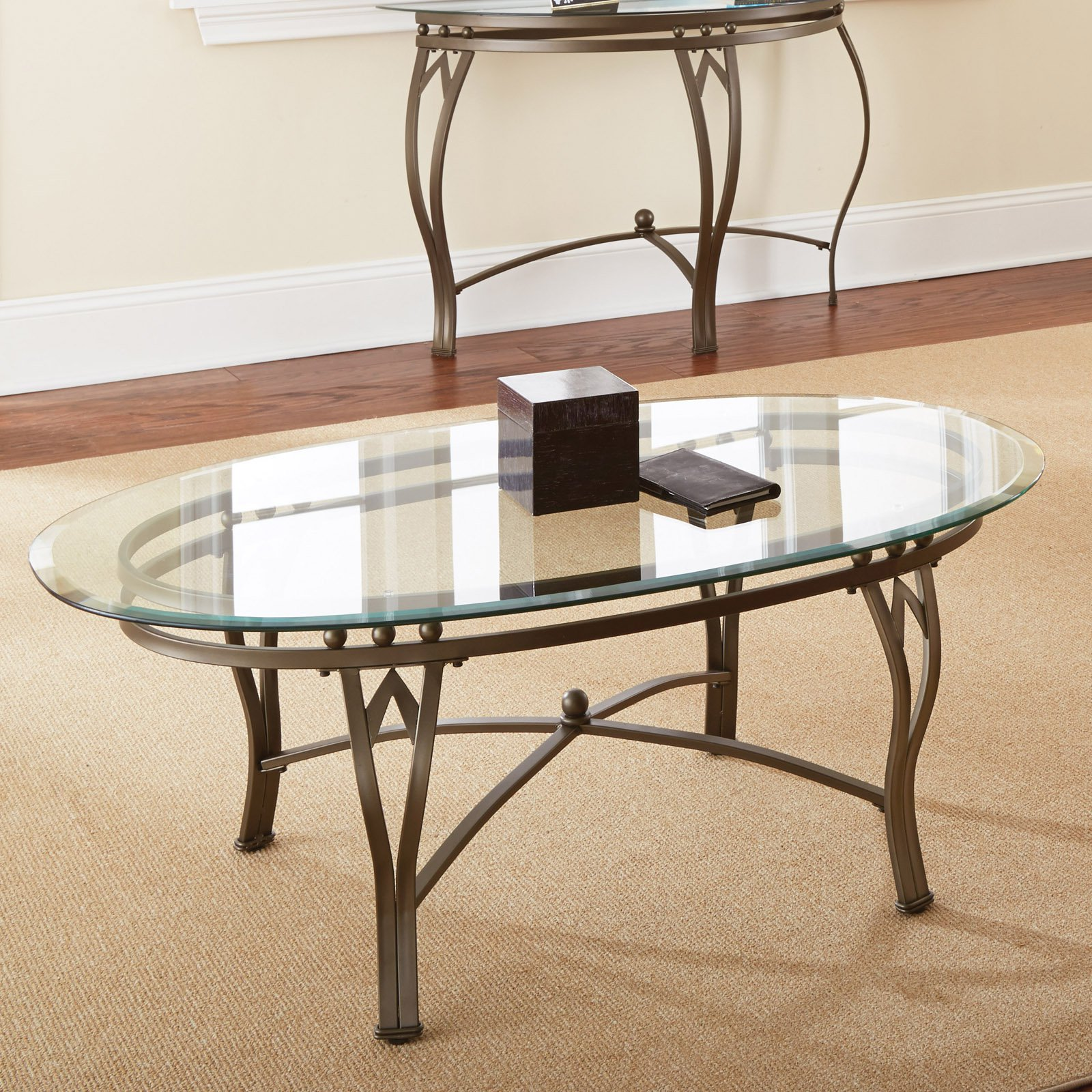 Master Glass Oval Coffee Table
