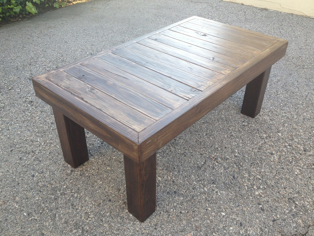 Picture of: Metal Reclaimed Wood Coffee Table