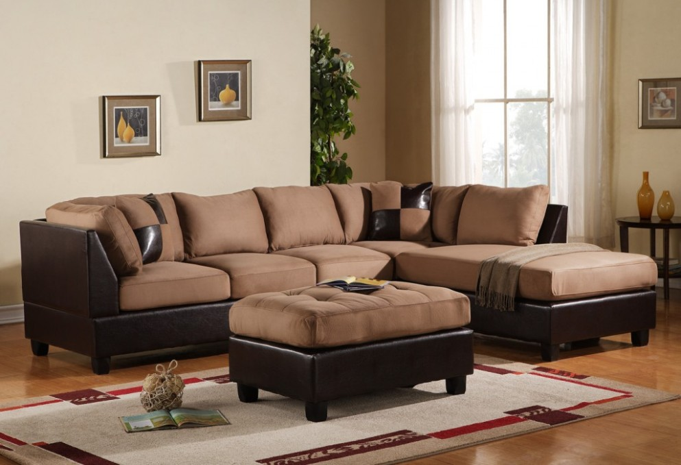 Picture of: Microfiber Sectional Sofa Decorative