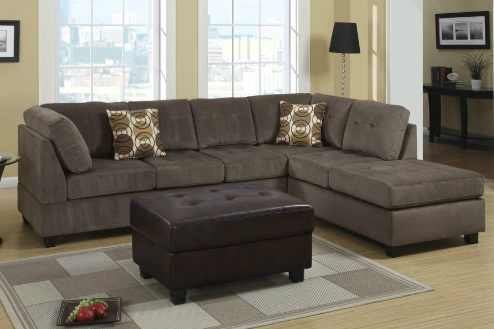 Image of: Microfiber Sectional Sofa Design