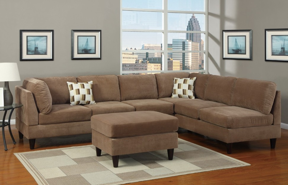 Image of: Microfiber Sectional Sofa Ideas