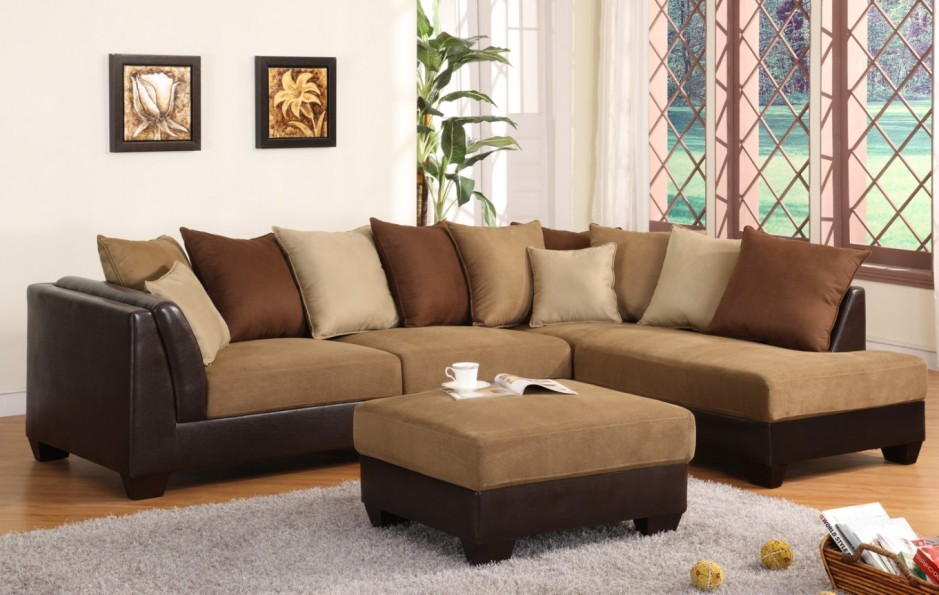 Image of: Microfiber Sectional Sofa Indoor