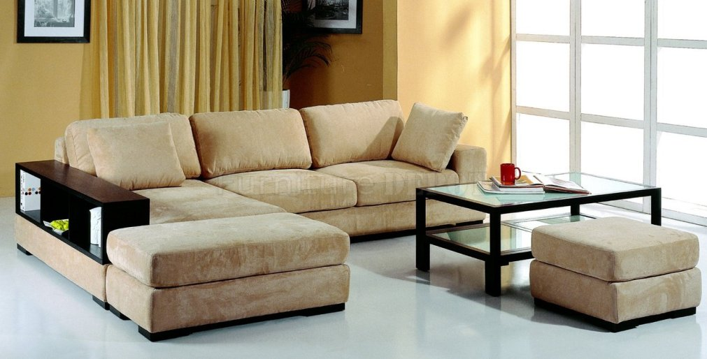Picture of: Microfiber Sectional Sofa Style