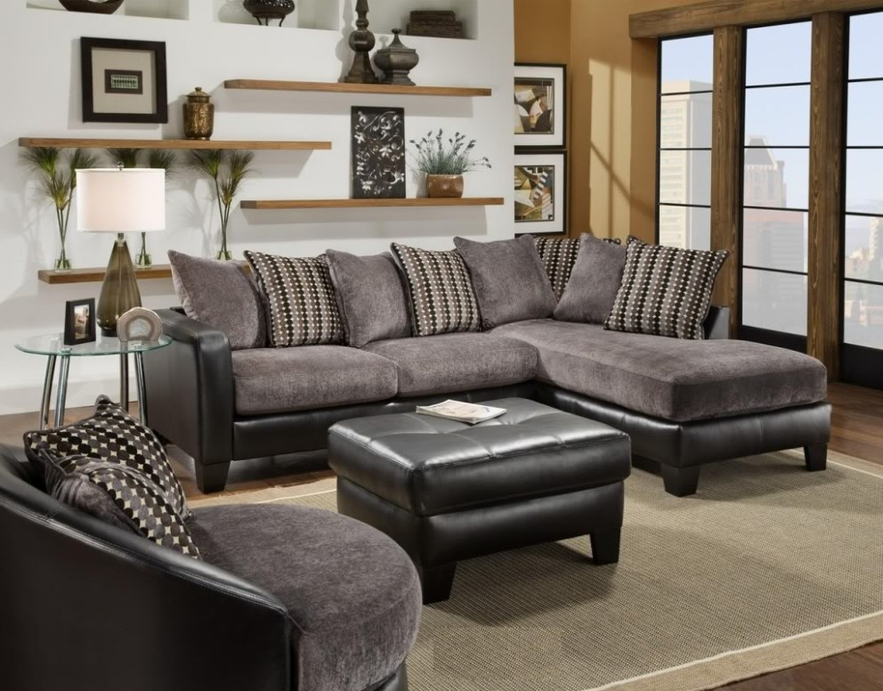Image of: Microfiber Sectional Sofa Velvet