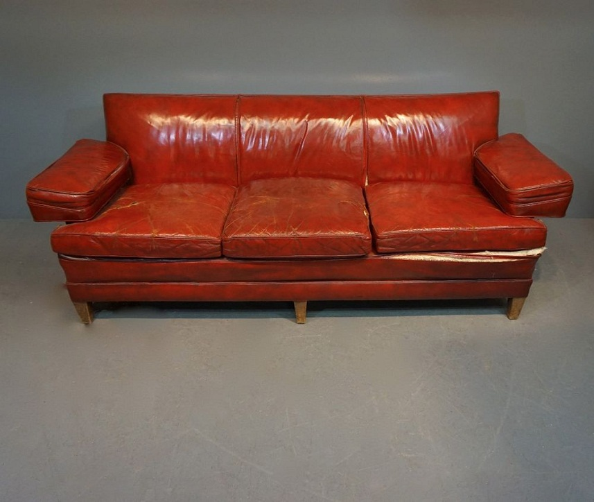 Picture of: Mid Century Modern Loveseat Leather
