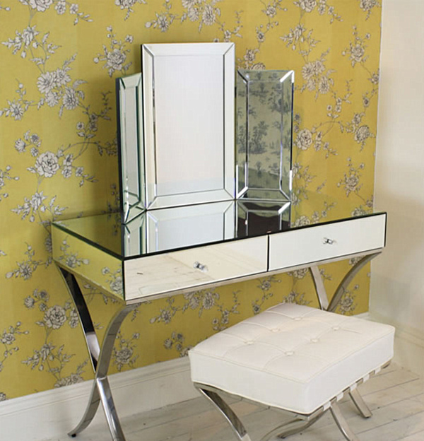 Picture of: Mirror Vanity Table set