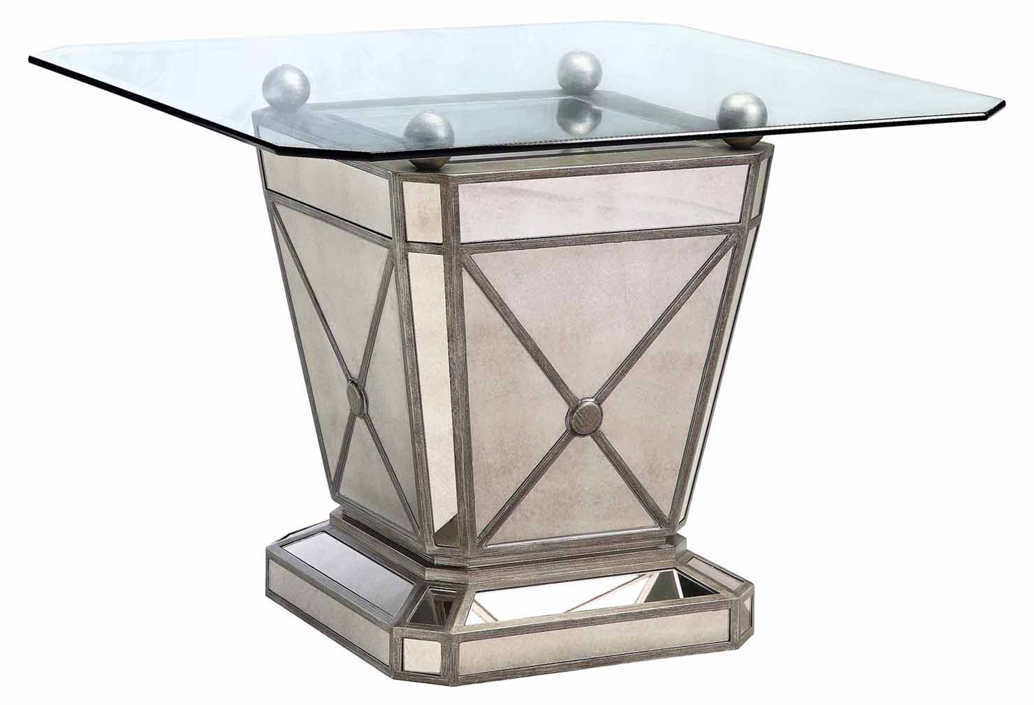 Image of: Mirrored Dining Room Table Design