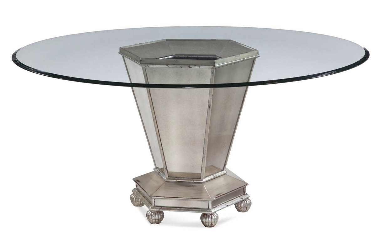 Image of: Mirrored Dining Room Table Furniture