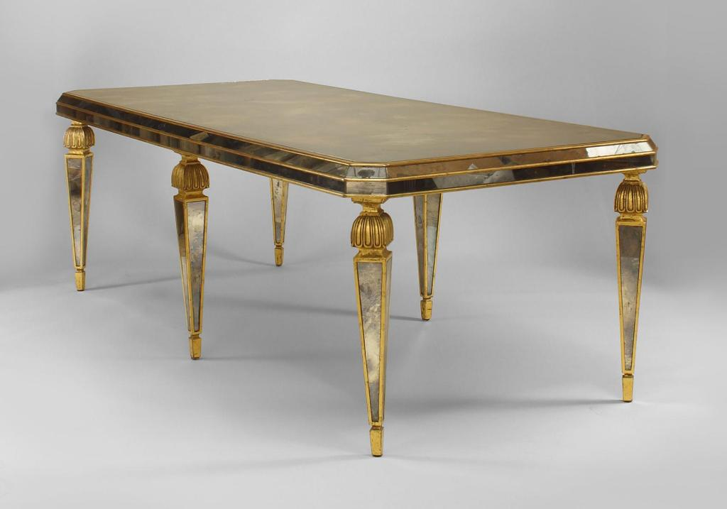 Image of: Mirrored Dining Room Table Picture