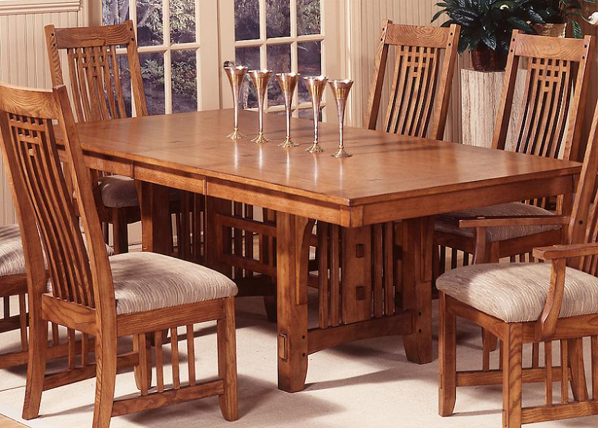 Image of: Mission Style Dining Table Ideas