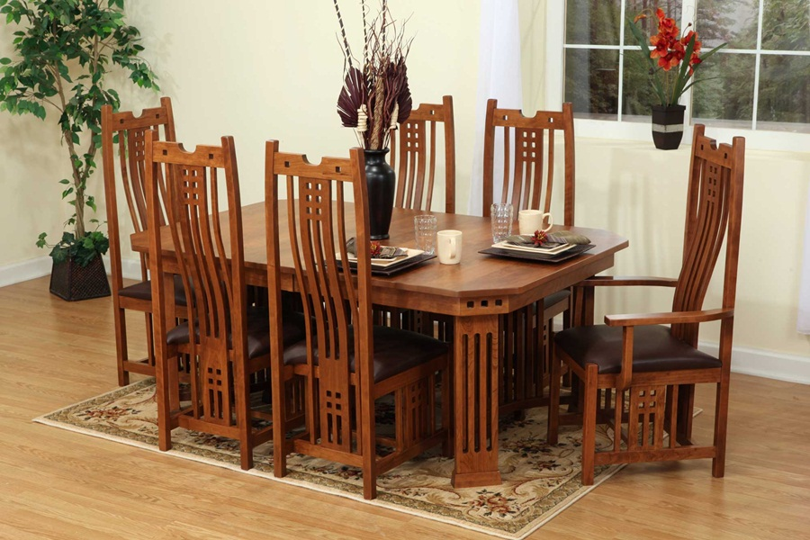 Picture of: Mission Style Dining Table