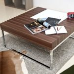 Modern Coffee Table With Metal Legs