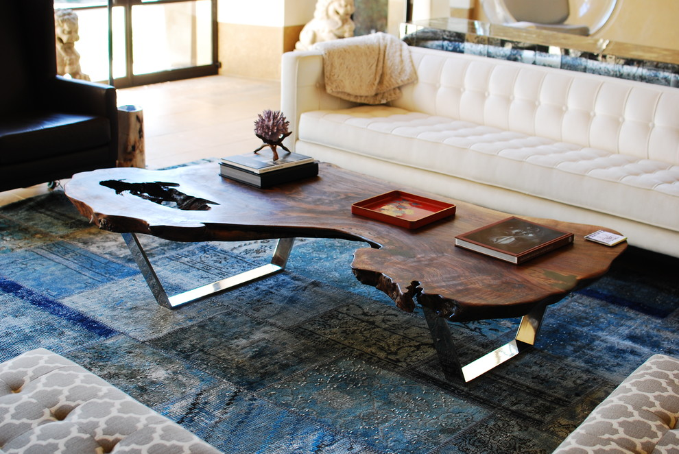 Image of: Modern Natural Wood Coffee Table