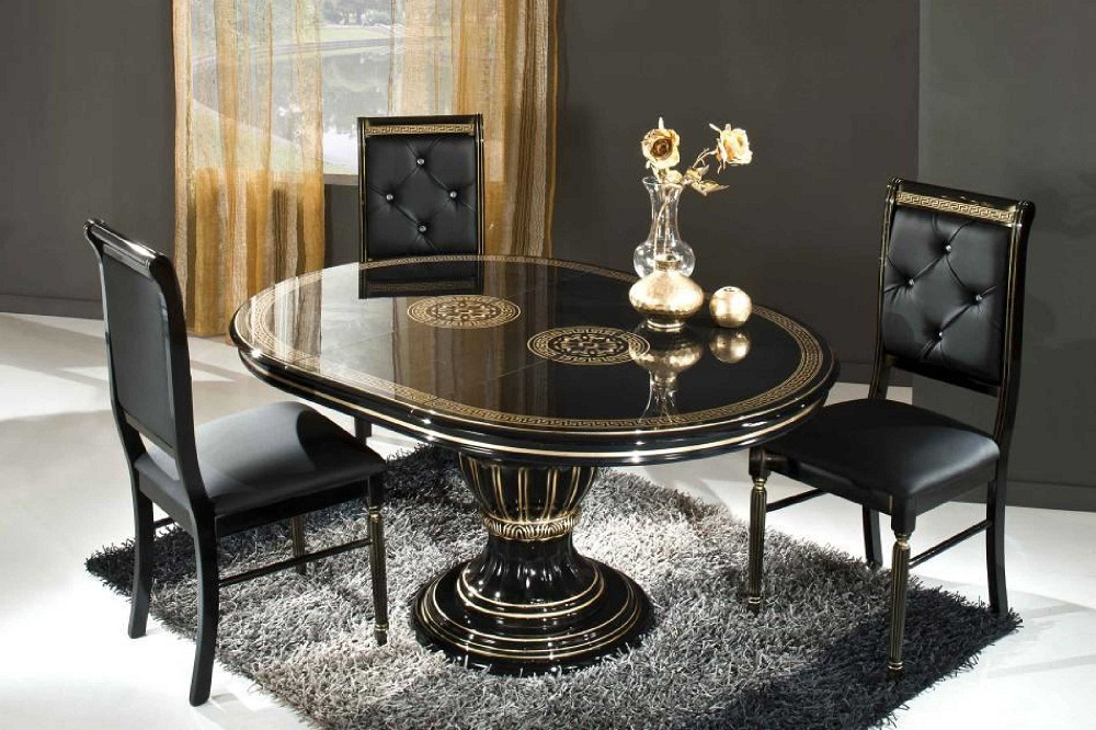 Modern Pedestal Dining Room Table