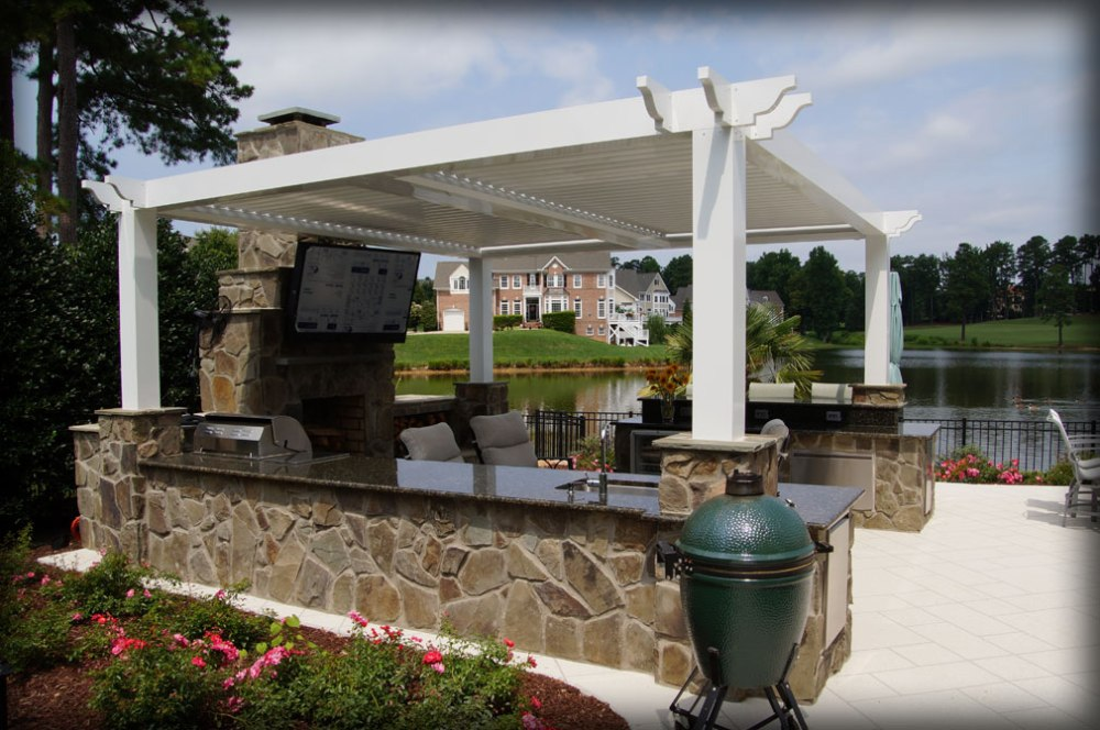 Picture of: Modern Retractable Pergola