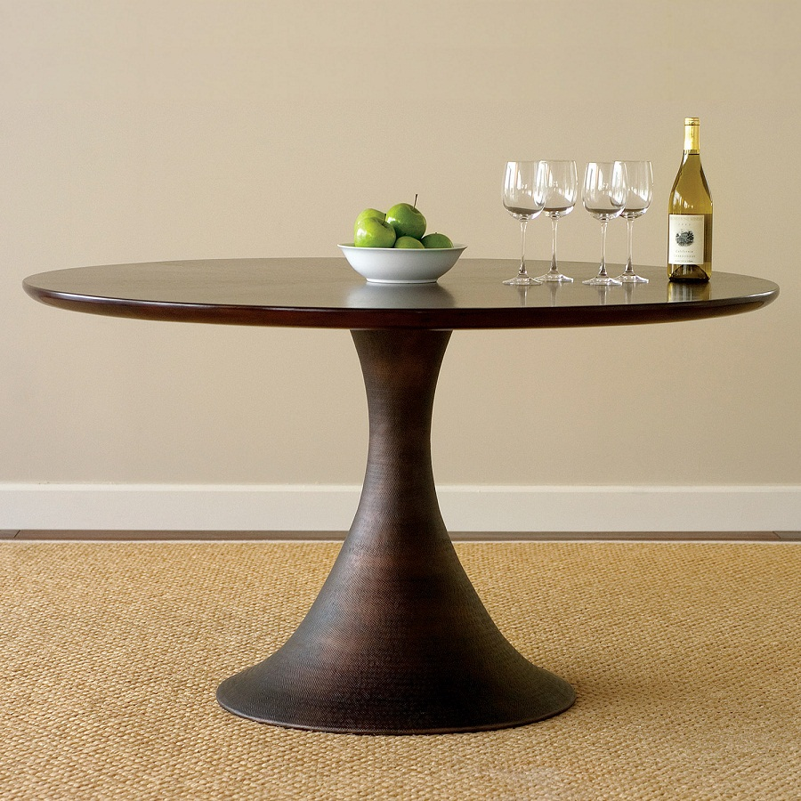 Image of: Modern Round Pedestal Dining Tables