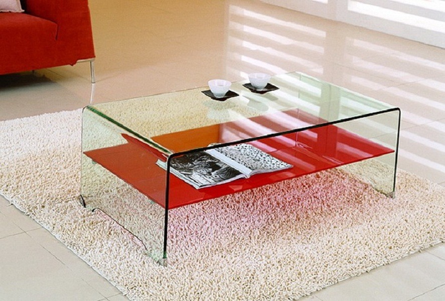 Picture of: Modern Tempered Glass Table Top