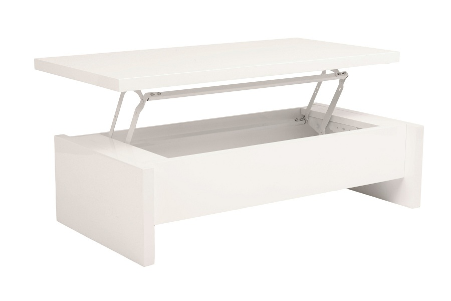 Image of: Modern White Lacquer Coffee Table