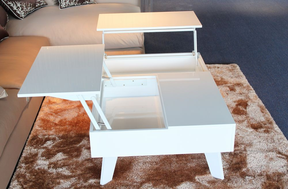Image of: Modern White Lacquer Table Coffee