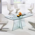 Modern glass table and chairs