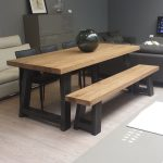 Modern Wood And Metal Dining Table