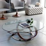 Moderns Glass Oval Coffee Table
