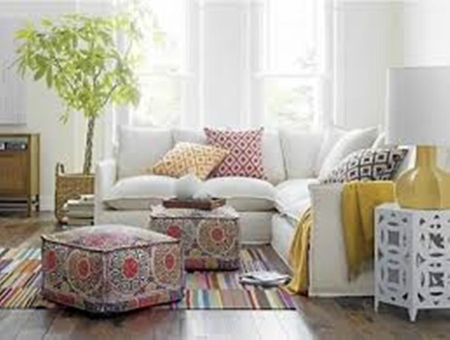 Image of: Moroccan Poufs and Ottomans