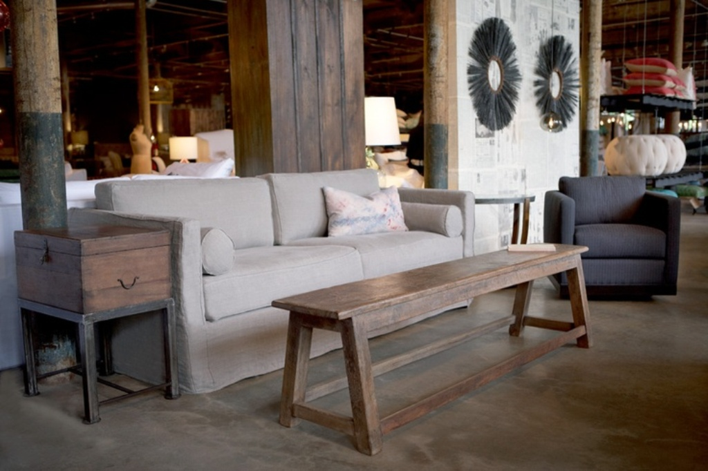 Picture of: Narrow Coffee Table Rustic