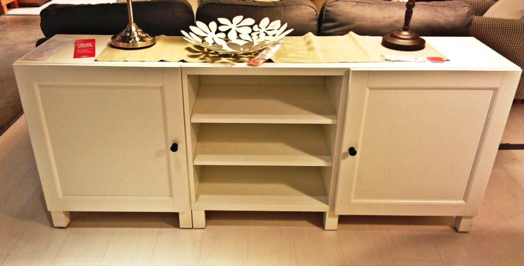 Picture of: Narrow Console Table With Doors