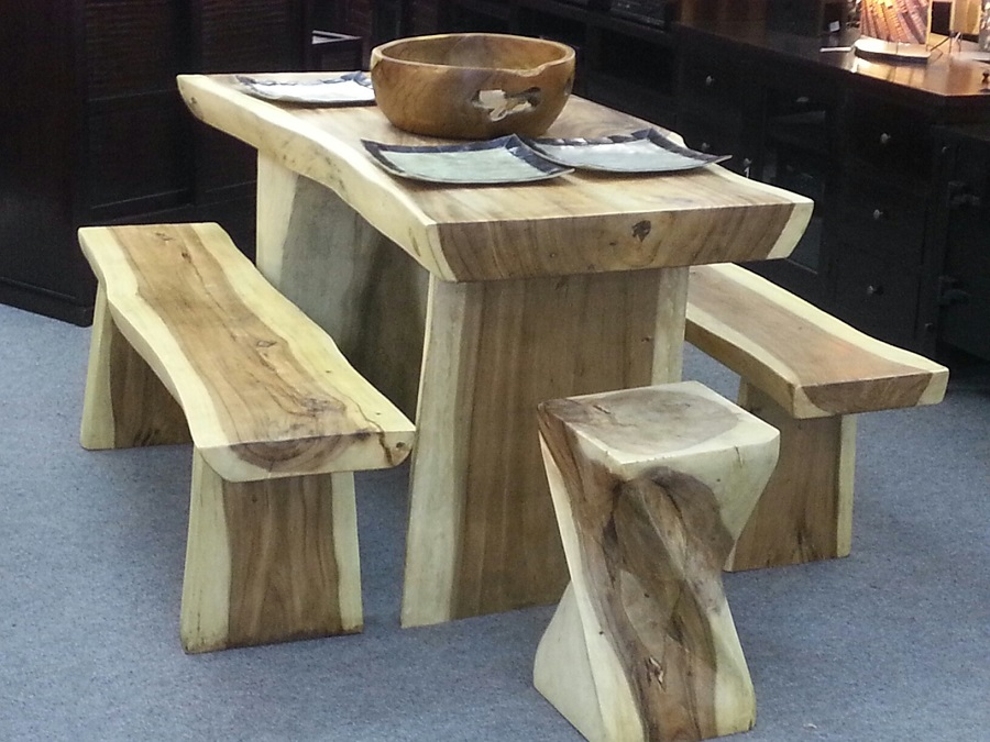 Picture of: natural teak wood table