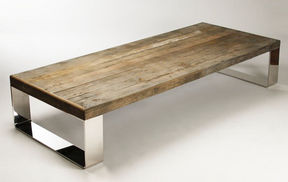 Image of: Natural Wood Coffee Table Decor