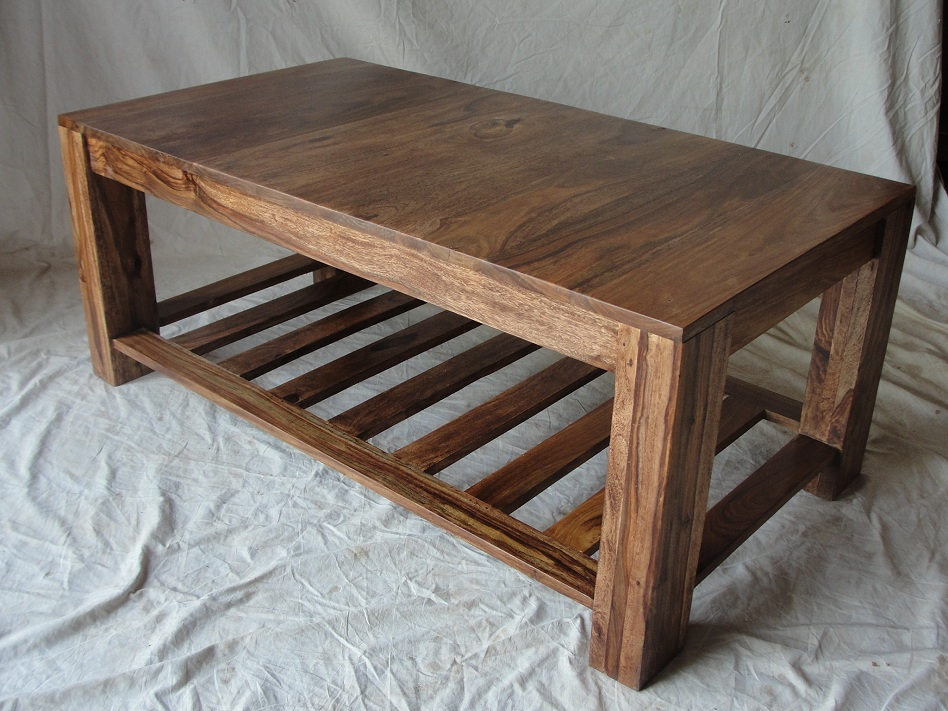 Picture of: Natural Wood Coffee Table Ideas