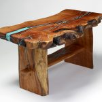 Natural Wood Stump Coffee Table