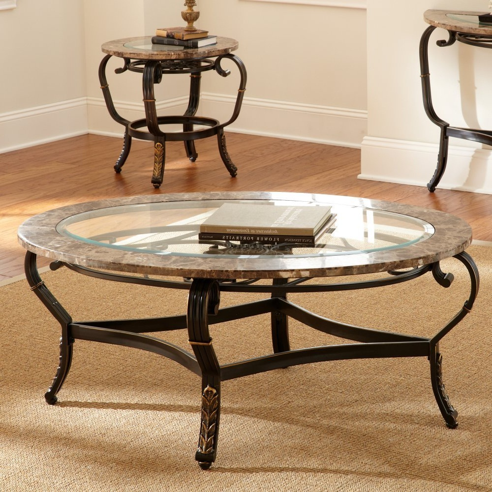 Picture of: Nice Oval Glass Top Coffee Table