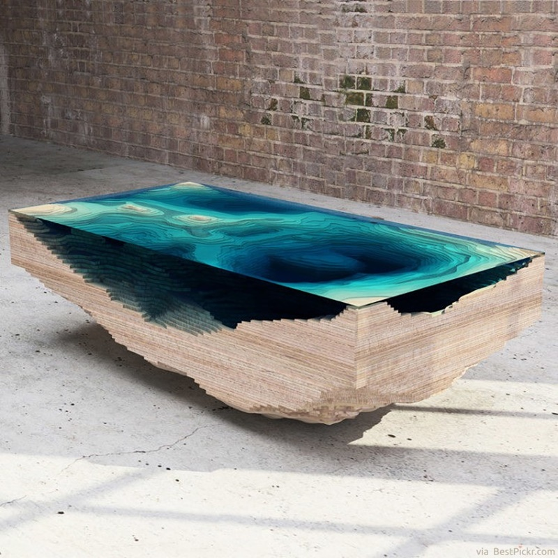 Image of: Ocean Unusual Coffee Tables