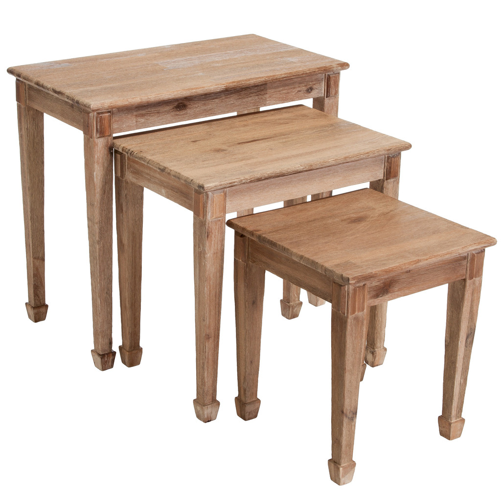 Image of: Original Wood Nesting Tables