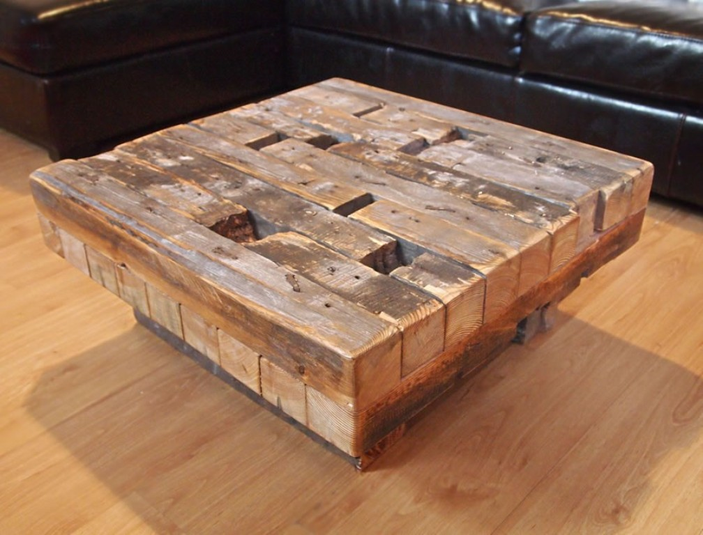 Image of: outdoor coffee table reclaimed wood