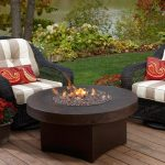 Outdoor Gas Fire Pit Table  Red