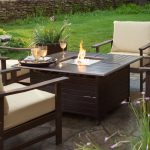 Outdoor Gas Fire Pit Table  Tall