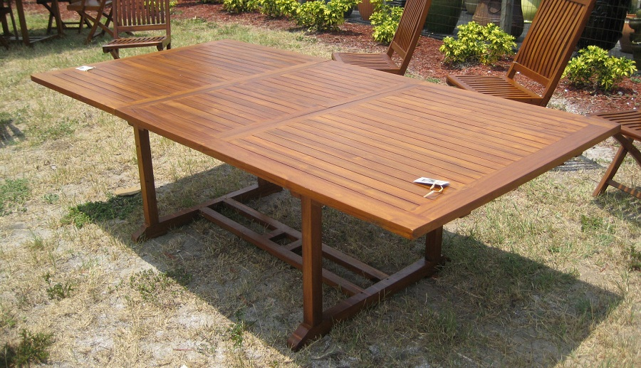 Image of: outdoor teak wood table
