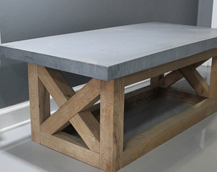 Image of: Outdoor cement coffee table