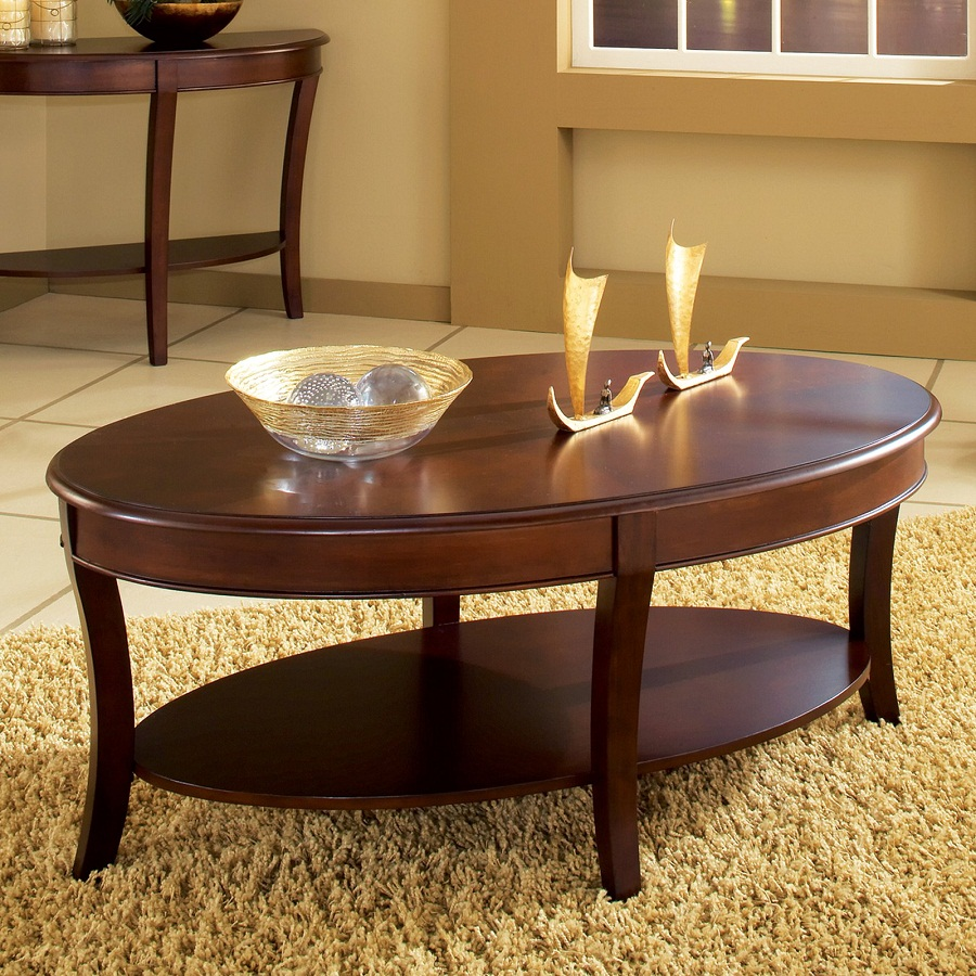 Image of: oval coffee tables designs