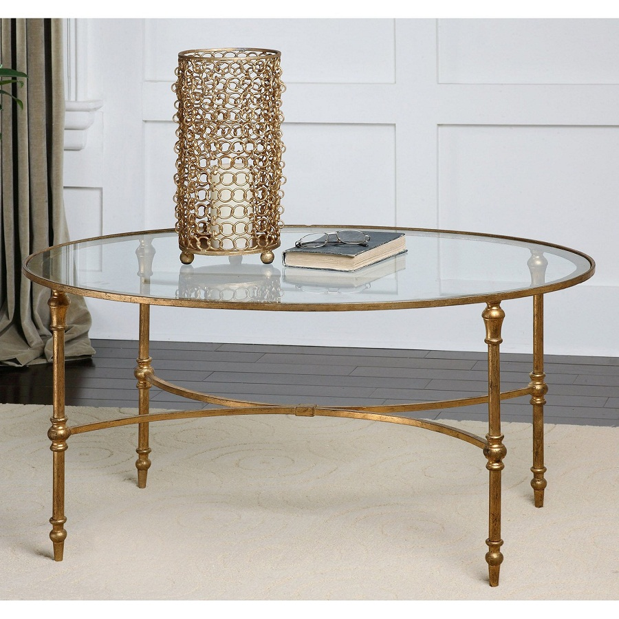 Image of: oval coffee tables glass