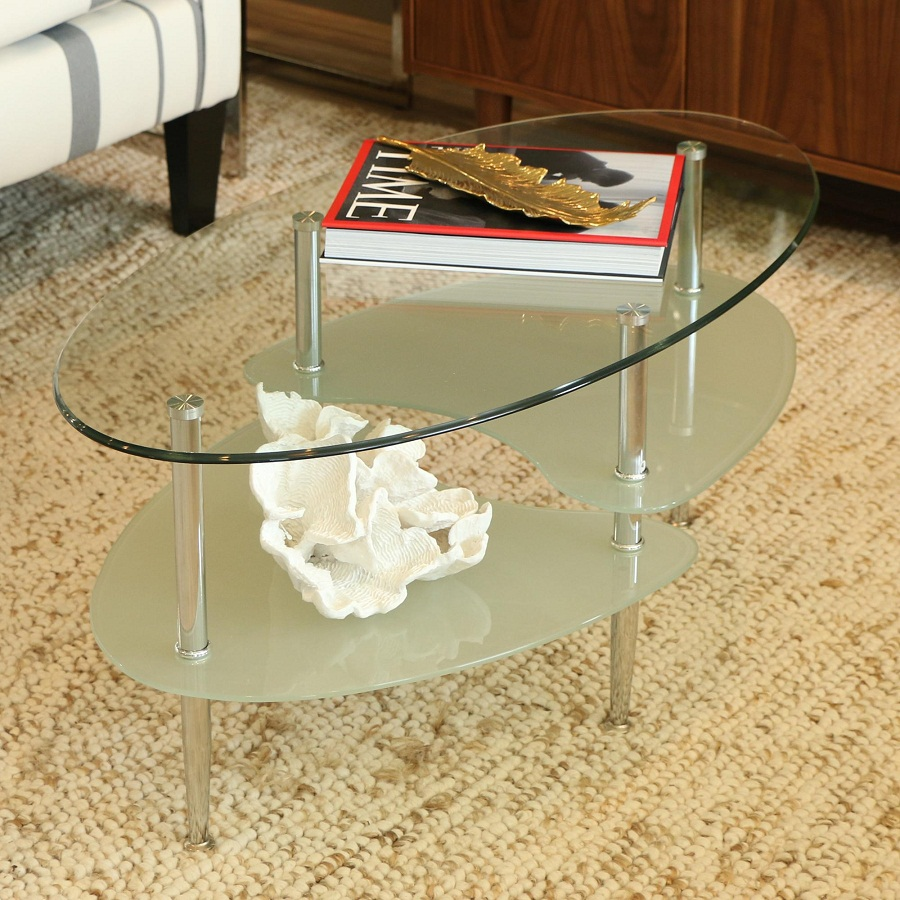 Image of: oval coffee tables indoor