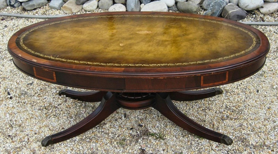 Image of: oval coffee tables wood