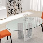 Oval Glass Dining Table Modern