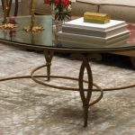 Oval Glass Top Coffee Table Design